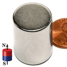 34 In X 1 Inch Rare Earth Neodymium Cylinder Magnet Strong N42 25mm 20mm 1in
