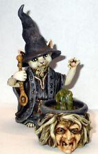 Harmony Kingdom Art Neil Eyre Designs Halloween kitty Cat Witch Cauldron frog