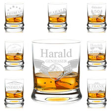 Leonardo Whisky Glass Engraved Whisky Glass Personalized Present Tumbler