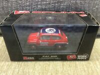 FIAT 600 'RAMAZZOTTI' RED / BLUE LIVERY 1:43 BRUMM DIE-CAST MODEL * VGC BOXED *