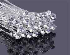 Clear Crystal Rhinestone Diamante Hair Pins Wedding Bridal Prom Party Gifts