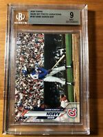 2020 Topps Series 1 HANK AARON SSP Super Short-Print Variation #156 Braves BGS 9