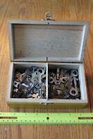 Box of Keys Vintage Key Lot of YALE American Tourister Skeleton Concord Eagle ++