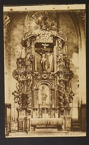 """2557.-FUENTERRABIA -Interior de la Iglesia - El Altar de Sn José (""""La Española"""")"""