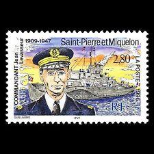SP&M 1996 - Death of Commander Jean Levasseur Military Ship - 623 MNH