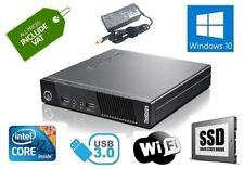 Fast Cheap Lenovo M93p Tiny PC Quad Core I7-4785T 480Gb SSD 8GB Windows 10 Wifi