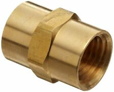 (5pc.) Solid Brass Hex Pipe Coupling 1/4