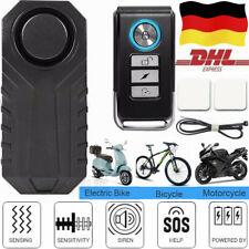 113dB Wireless Anti-Theft Vibration Motorrad Fahrrad wasserdicht Fahrrad Alarm