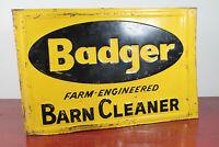 50er Werbung Blechschild Badger Barn Cleaner Reklame Schild Werbeschild USA 60er