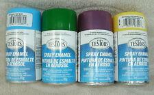 Testors Spray Enamel Set Of 4 Colors 3 oz. Each ~ New