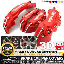 4x Red 3D Style Brake Caliper Covers Universal Car Disc L+S Front Rear Kits LW03