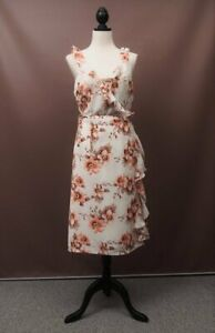NWT - Ebby Andi floral wrap around occasion dress, size M