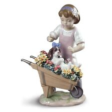 Lladro Let's Go for A Ride Girl Figurine 01009133