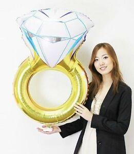 Aluminum I DO Engagement Wedding Stag Helium Foil Diamond Ring Foil Balloon