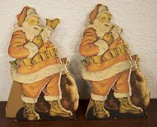 1936 WOLFF (ST. LOUIS) SANTA CLAUS STANDUPS CHRISTMAS DECORATIONS R. TAENZER