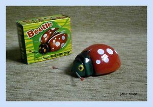 Beetle NIB Friction Plastic Made in Hong Kong Vintage Rare Working Order