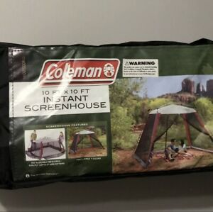 Coleman 10x10 Instant Canopy Screen House Shade Tent Beach Camping BRAND NEW !!