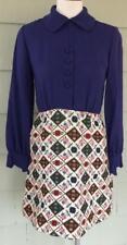 Vtg 60's Sue Brett junior tapestry print dress - xs/small b 34
