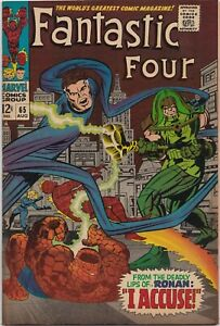 Fantastic Four #65  6.0  -KEY-  1st Ronan