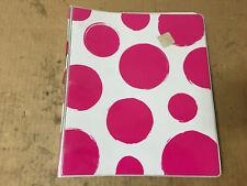 "3-Ring Binder 1"" White with Pink Polka Dots"