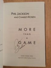 SIGNED by Phil Jackson - More Than A Game HC 1st/1st NBA Knicks Lakers HOF Coach