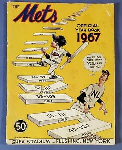 THE METS OFFICIAL YEAR BOOK 1967 - SECOND REVISED EDITION POOR CONDITION