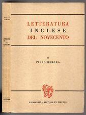 LETTERATURA INGLESE DEL NOVECENTO di Piero Rebora