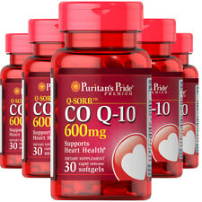CoQ10 CO Q-10, CoQ-10, 600 mg 5x30 Softgels Q-Sorb Coenzyme Q-10 Puritan
