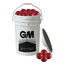 Gunn and Moore Bucket of 60 Bowling Machine Balls Red Dimpled 5oz Fits BOLA Etc