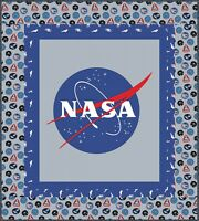 "Riley Blake Nasa Quilt Kit 59 x 53"" 100% Cotton Quilting Fabric Blue Gray"