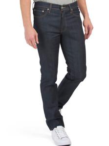 Neuf Homme Authentique Levi's 511 Slim Fit Délavé Foncé Marine Jeans Extensible