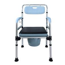 Toilettenstuhl Nachtstuhl + Rückenlehne Toilettenhilfe feststehend Duschstuhl WC