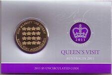 (PL) 2011 $5 UNC Coin CHOGM Queen's Visit Australia ROYAL AUSTRALIAN MINT RAM