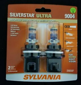 Sylvania Silverstar ULTRA  9004 Pair Set High Performance Headlight 2 Bulbs