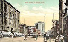 VIntage Postcard-Main Street, Winnipeg, Manitoba, Canada