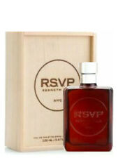 R.S.V.P Kenneth Cole NYC 100Ml 3.4 Oz Eau de Toilette Spray Men Vintage Wood Box