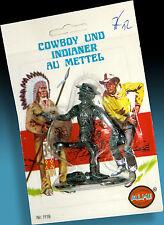 LONE STAR METALL COWBOYFIGUR OVP BLISTER PACK 70er LETZTE !! ALME VETRIEB