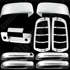For Dodge Ram 1500 09-15 Chrome Covers Set Top Mirror 4 Door Tailgate Taillights