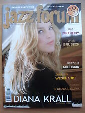 DIANA KRALL on front cover JAZZ FORUM 3/2008 in. Pat Metheny,Lizz Wright