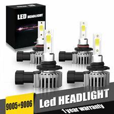 9005+9006 Combo LED Headlight Hi/Low Beam light 6500K White 120W 26400LM Kit