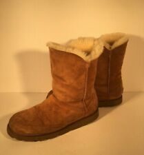 Ugg Womens Shanleigh 3216 Tan Sheepskin Mid Calf Boot. Women's US Sz 8 EUC