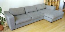 boconcept, 3er Sofa, mit Liegefläche, sehr gemütlich, Anthrazit/Grau, Baumwolle