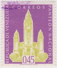 (VE223)1960 VENEZUELA 45c Voilet panteon buildingow1592