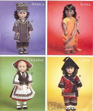 Cultural costumes PATTERN to Sew doll clothes McCalls 6855 fit 18in dolls Sari