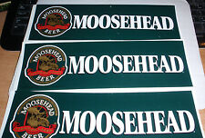 SET OF 3 BRAND NEW MOOSEHEAD BEER CANADIAN LAGER BUMPER STICKERS FREE SHIPPING