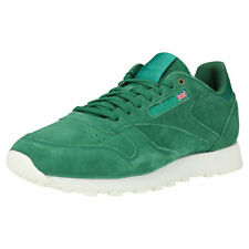 Reebok Classic Leather Mcc Mens Green Suede Fashion Trainers - 12 UK