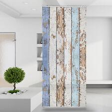 Raumteiler Vorhang Gardine Shabby Holz Optik Blanke Vintage Rustikal Natur RID6