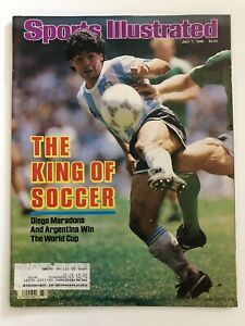 July 7 1986 Sports Illustrated Diego Maradona King of Soccer Argentina World Cup