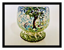 Vintage Egg Cup Art Hand Painted Footed Apple Tree Royal Winton 1930s ?