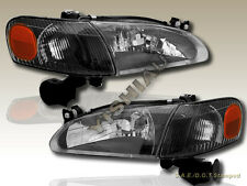 1998-2000 TOYOTA COROLLA BLACK HEADLIGHTS + CORNER 4PCS 98 99 00
